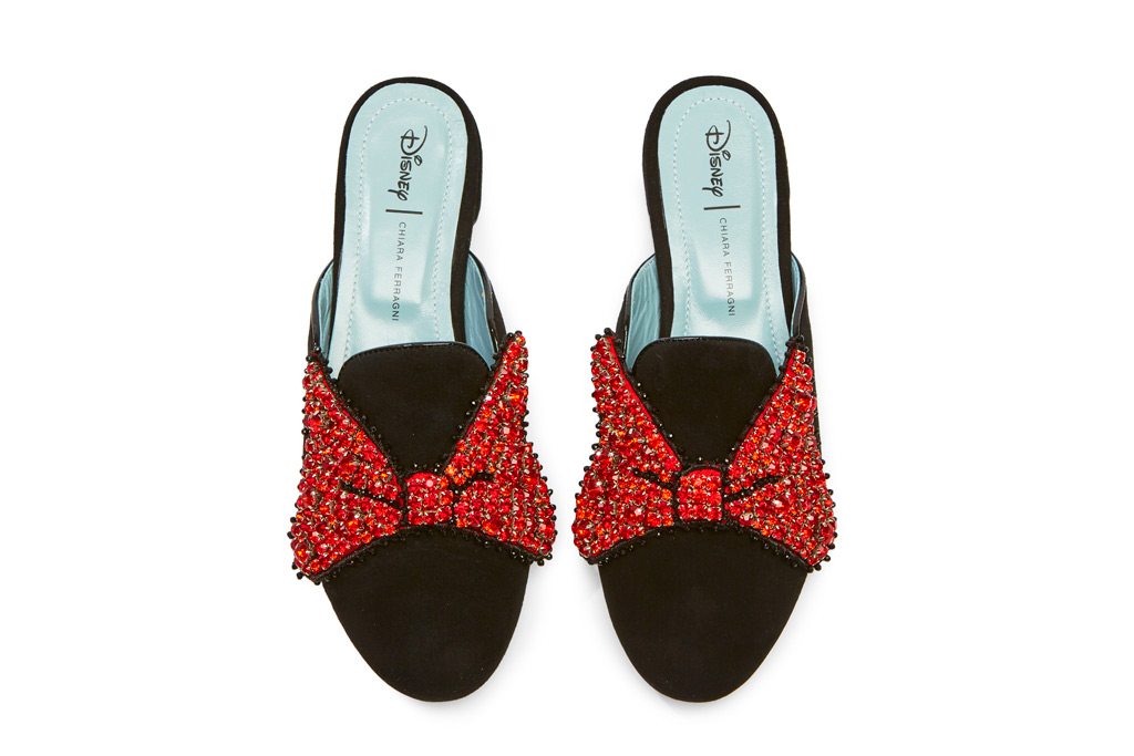 Minnie Mouse Bow Mules for Women by Chiara Ferragni - Black