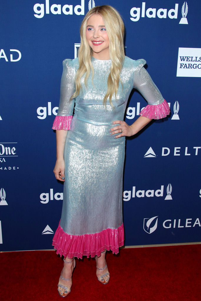 Chloe Grace Moretz, glaad awards, red carpet