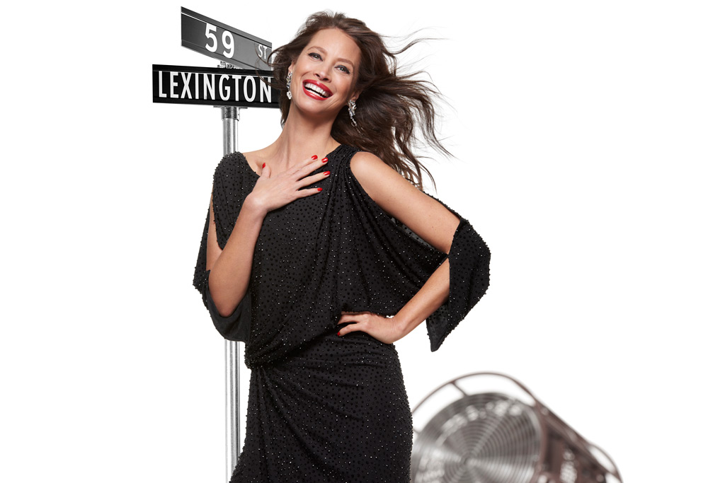 Christy Turlington, bloomingdales campaign, the heart of new york