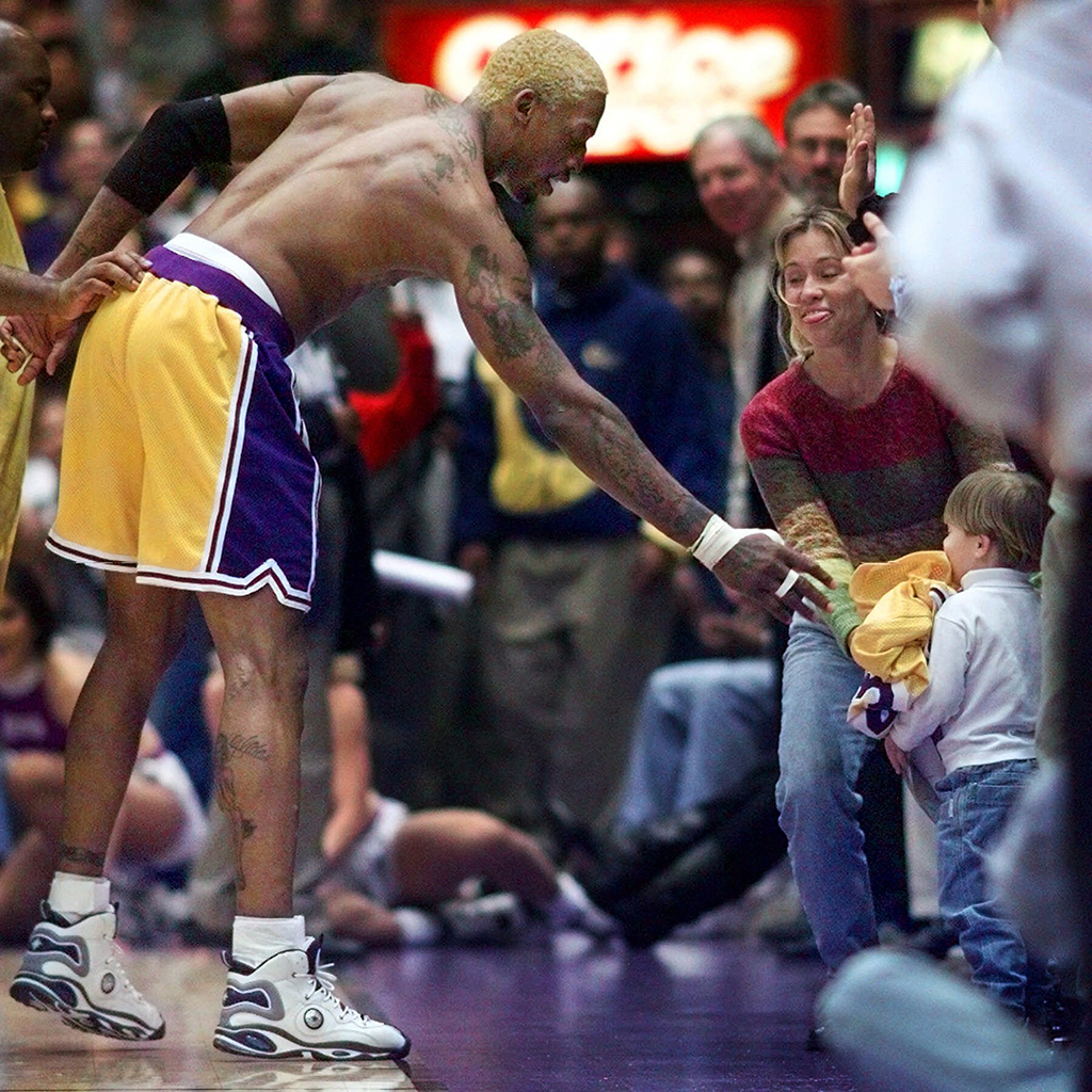 Dennis Rodman Los Angeles Lakers Converse D-Rod High