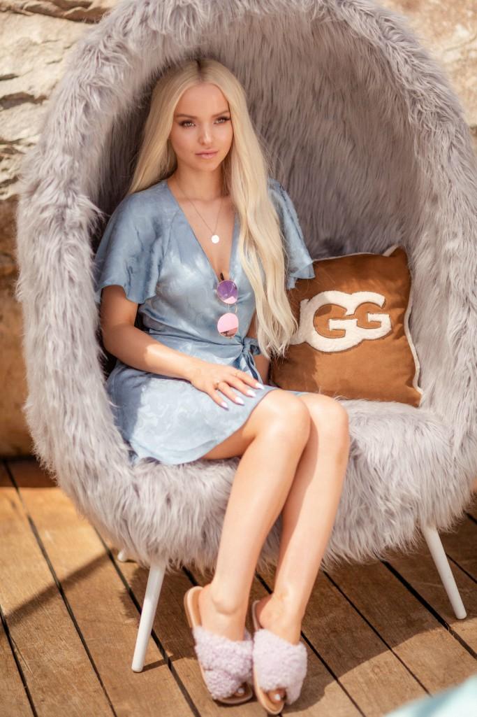 dove cameron, coachella, ugg slippers