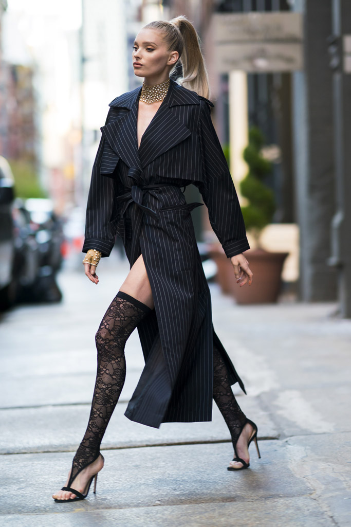 Elsa Hosk wears Gianvito Rossi heels