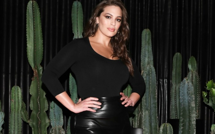 Ashley Graham wears all-black look to private dinner at the Lobster Club in New York.