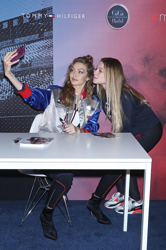 gigi hadid, tommy hilfiger, launch, protests