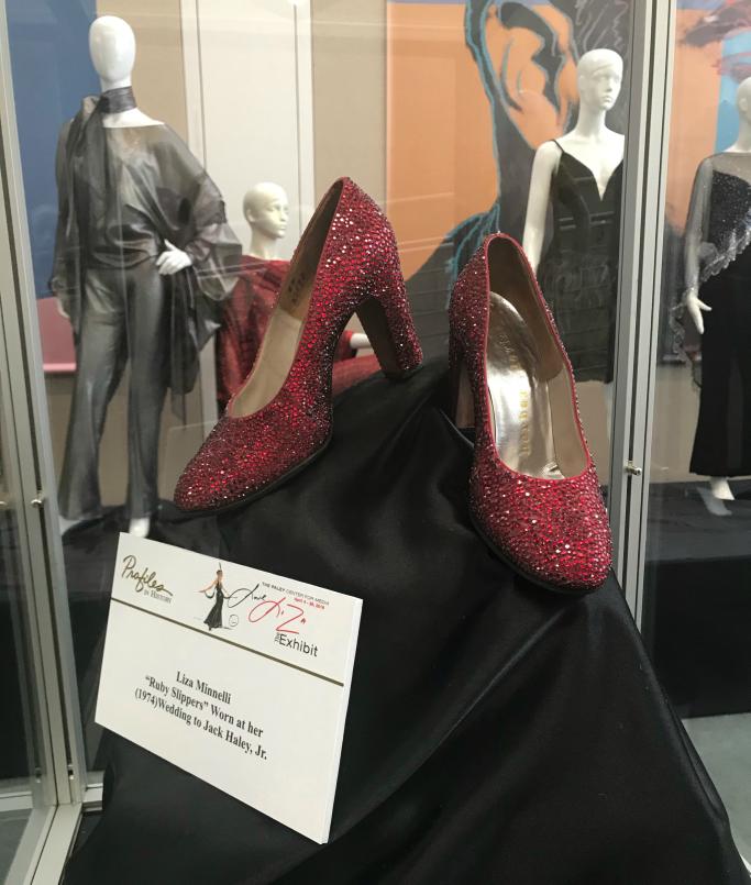Liza Minnelli's ruby slippers on display