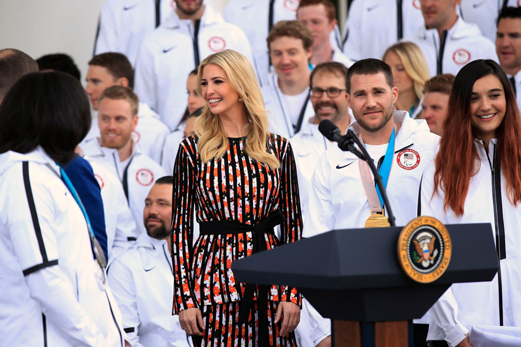 Ivanka Trump, team usa, kenzo dress, white house