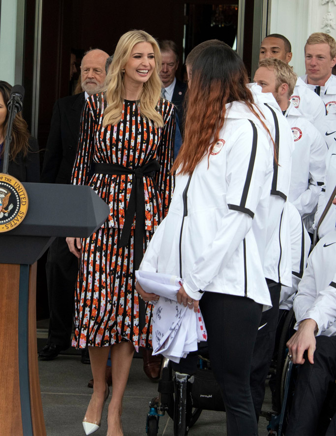 Ivanka Trump, kenzo dress