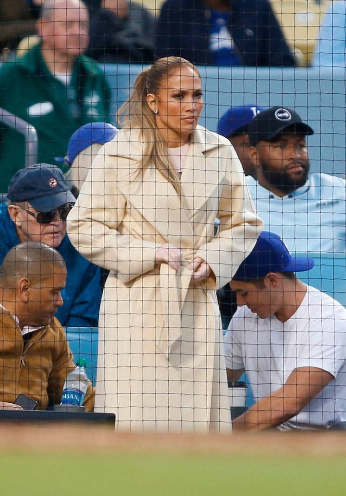 Jennifer Lopez dodgers game