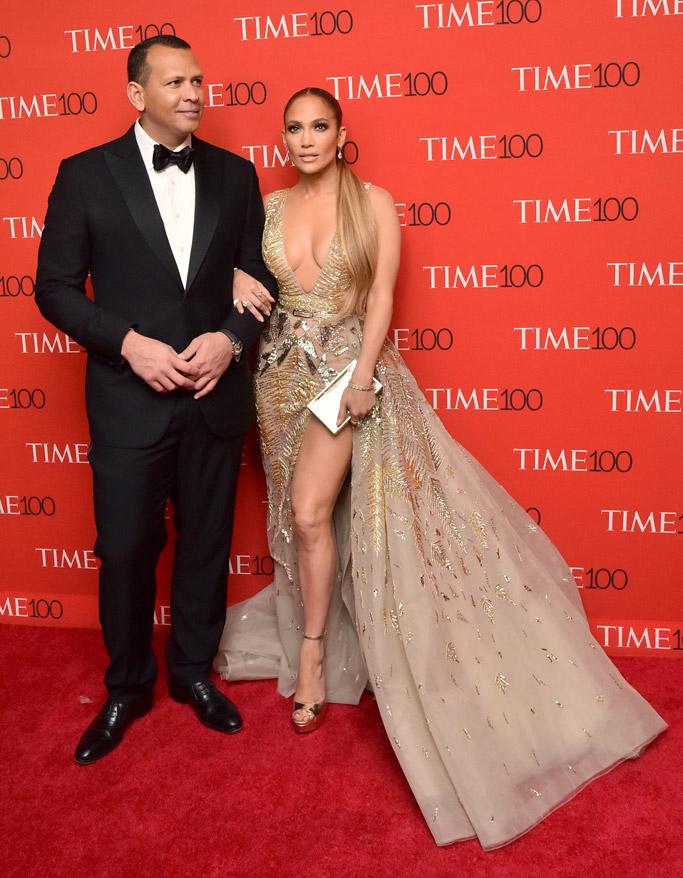 Alex Rodriguez and Jennifer Lopez, time 100 gala, red carpet