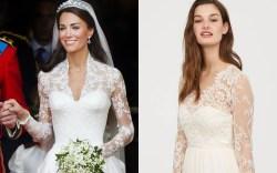 kate middleton wedding dress H&M