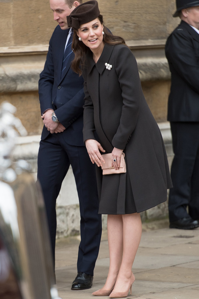 Kate Middleton, easter church services, pregnant, maternity style