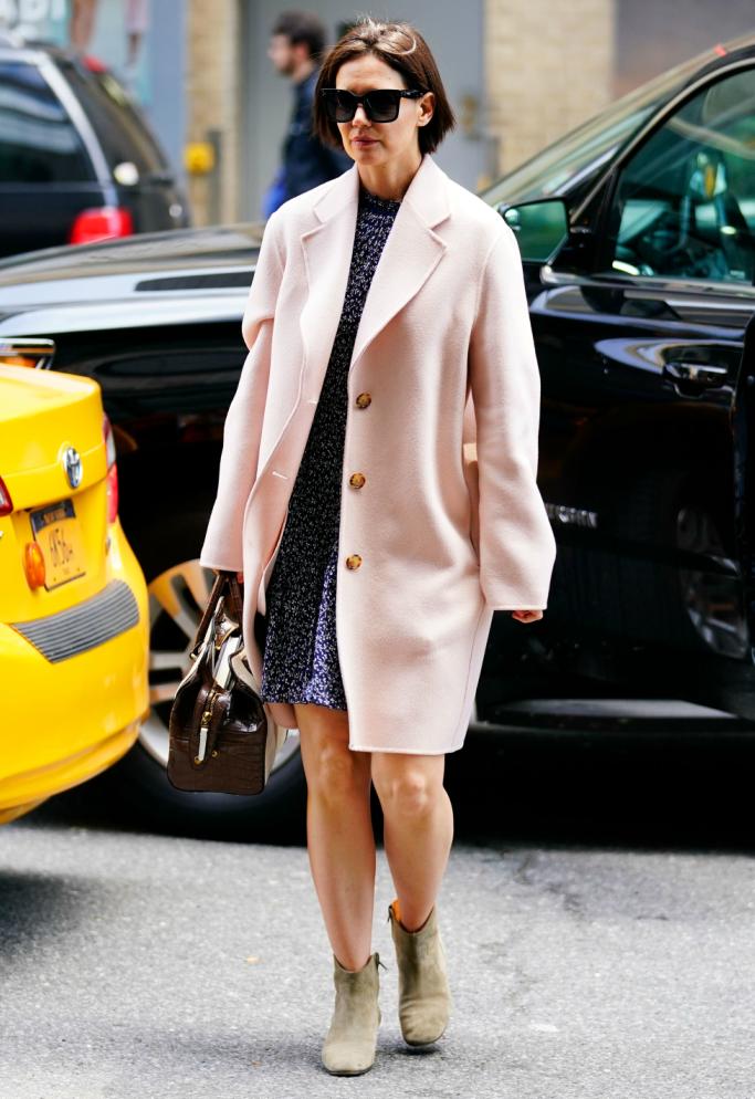 tod's bag, isabel marant boots, acne studios coat, katie holmes