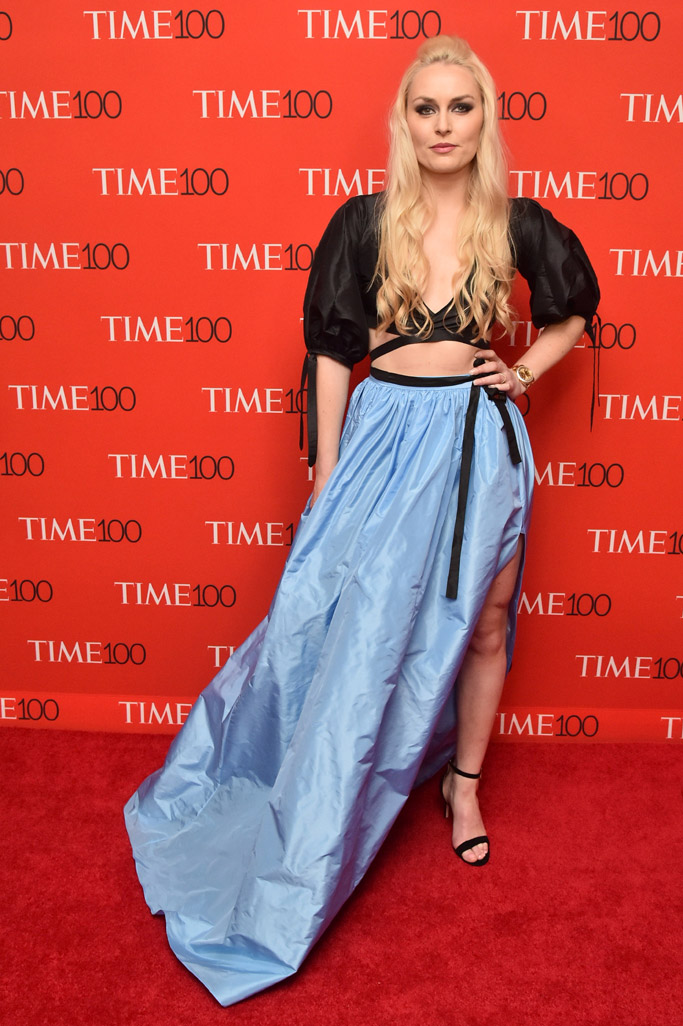 Lindsey Vonn, time 100 gala, red carpet