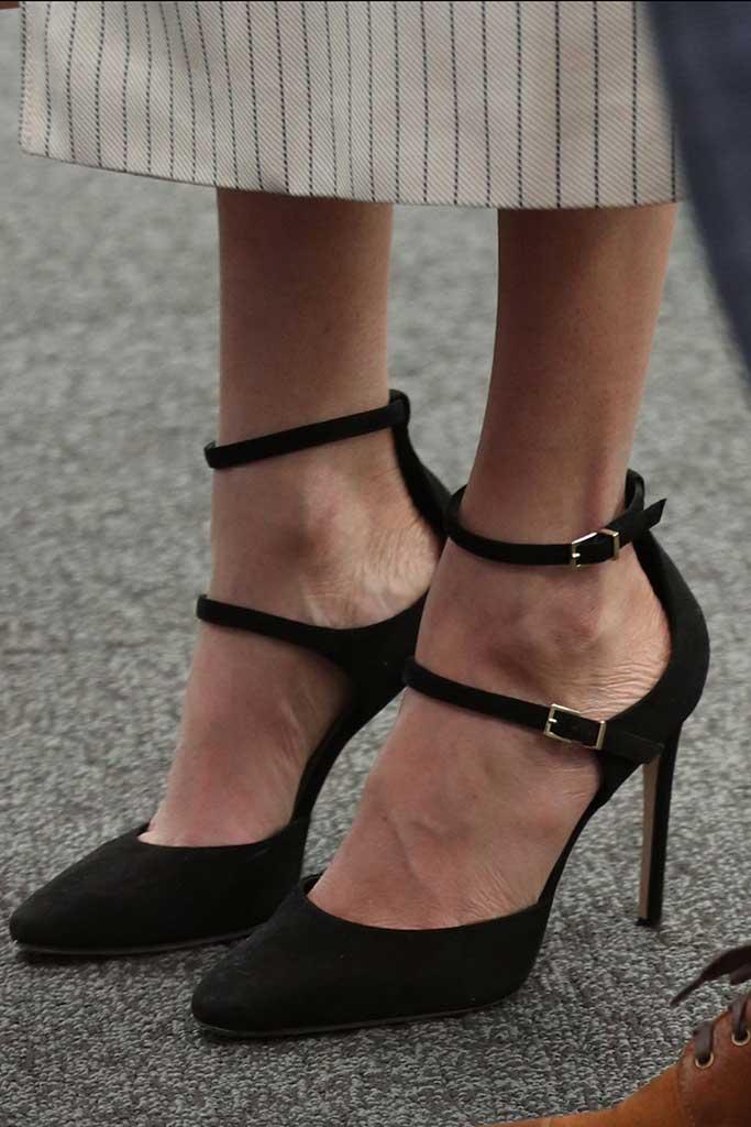 Meghan Markle wears Tamara Mellon Paramour pumps.