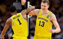 Michigan Wolverines Moritz Wagner Charles Matthews