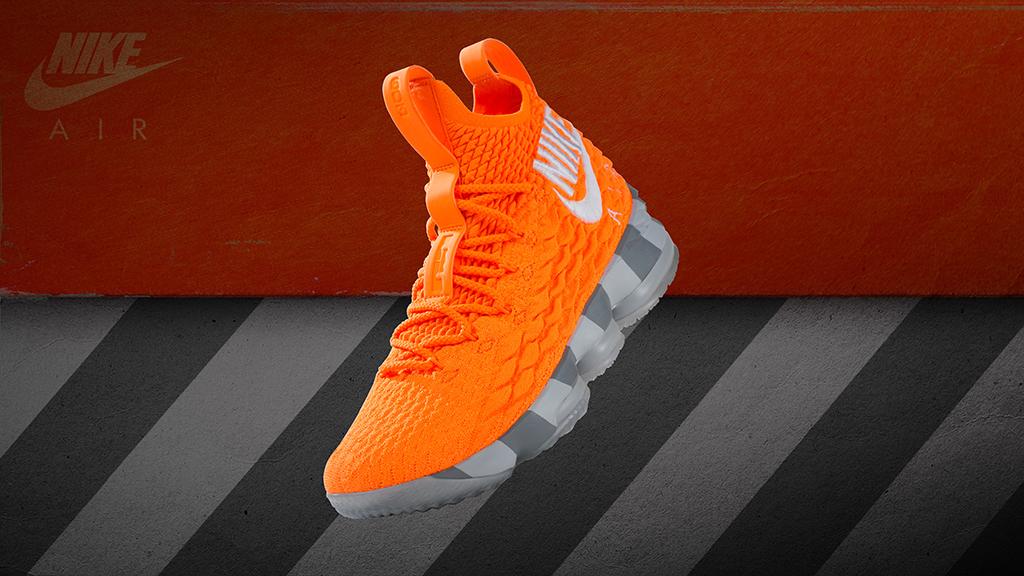 Nike LeBron 15 Orange Box
