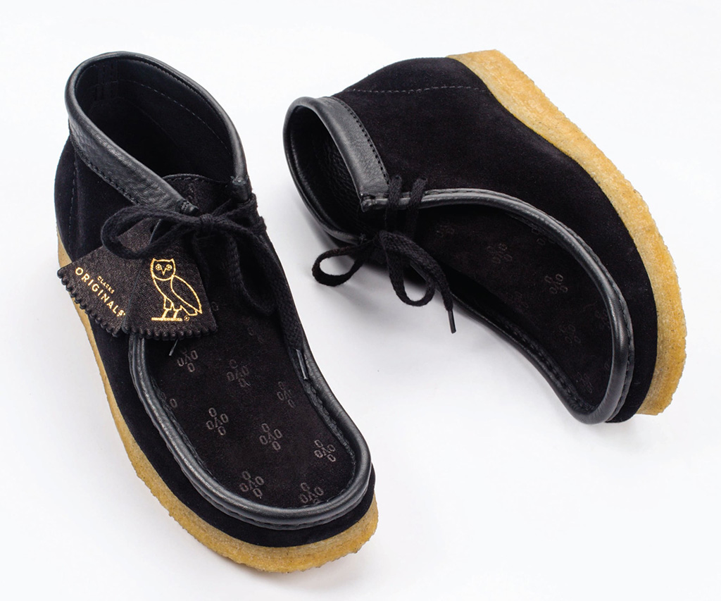 OVO x Clarks Wallabe Made in Italy Collection Black