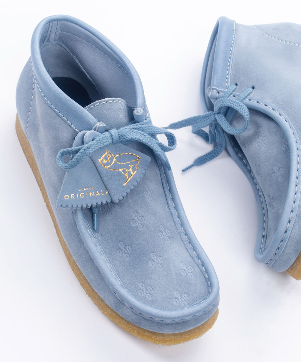 OVO x Clarks Wallabe Made in Italy Collection Blue