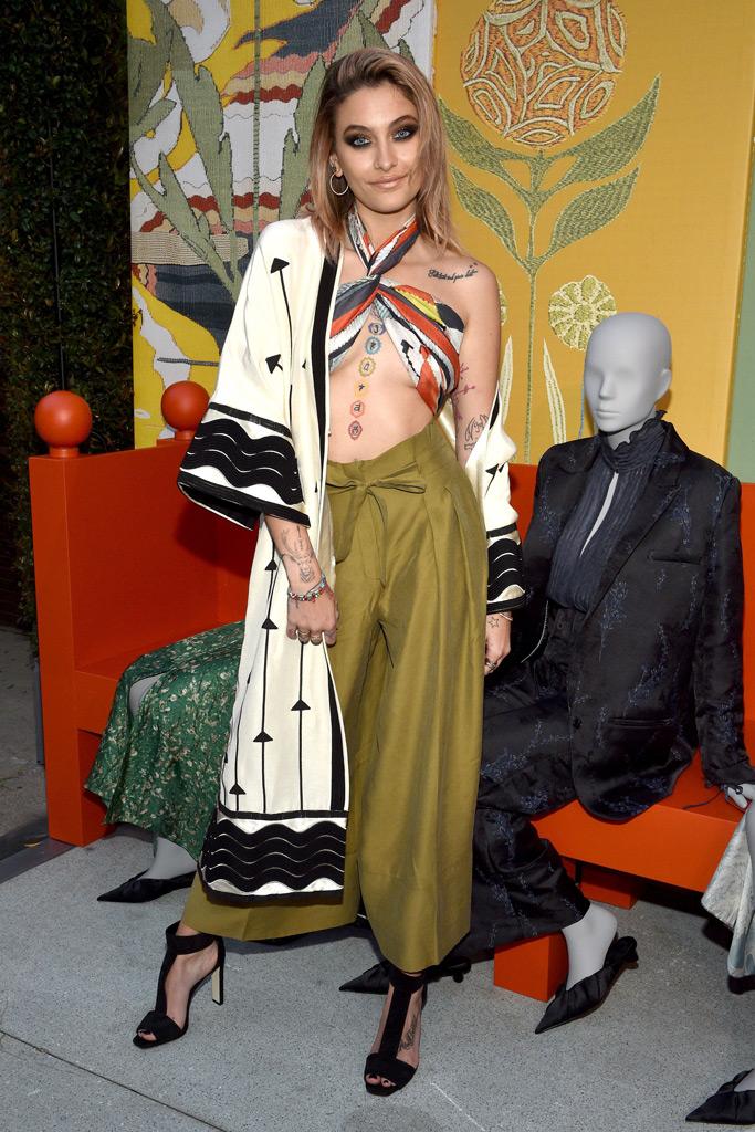 Paris Jackson, H&M Conscious Collection, halter bikini