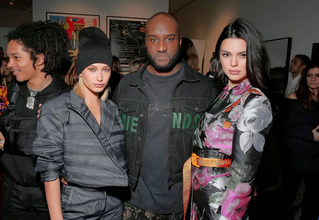 Hailey Baldwin, Virgil Abloh and Kendall JennerSandra Choi and Virgil Abloh dinner celebrating The Off-White C/O Jimmy Choo Collection, Fall Winter 2018, New York Fashion Week, USA - 11 Feb 2018
