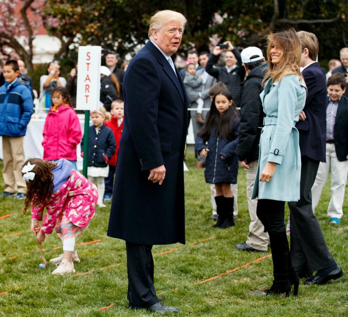 melalnia trump, donald trump, White House Easter Egg Roll