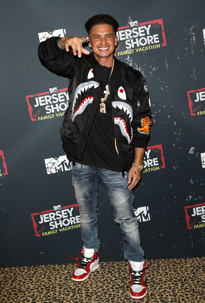 DJ Pauly D wearing Off-White x Air Jordan 1 Retro High OG sneakers