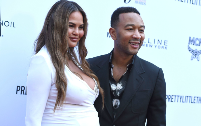 Chrissy Teigen and John Legend, daily front row fashion awards