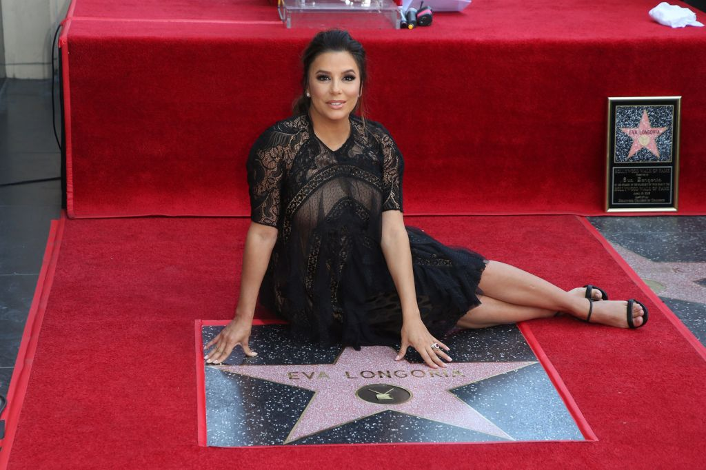Eva Longoria honored with a star on the Hollywood Walk of Fame.
