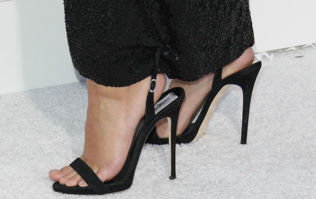 Emily Ratajkowski, Giuseppe Zanotti slingback sandals,
