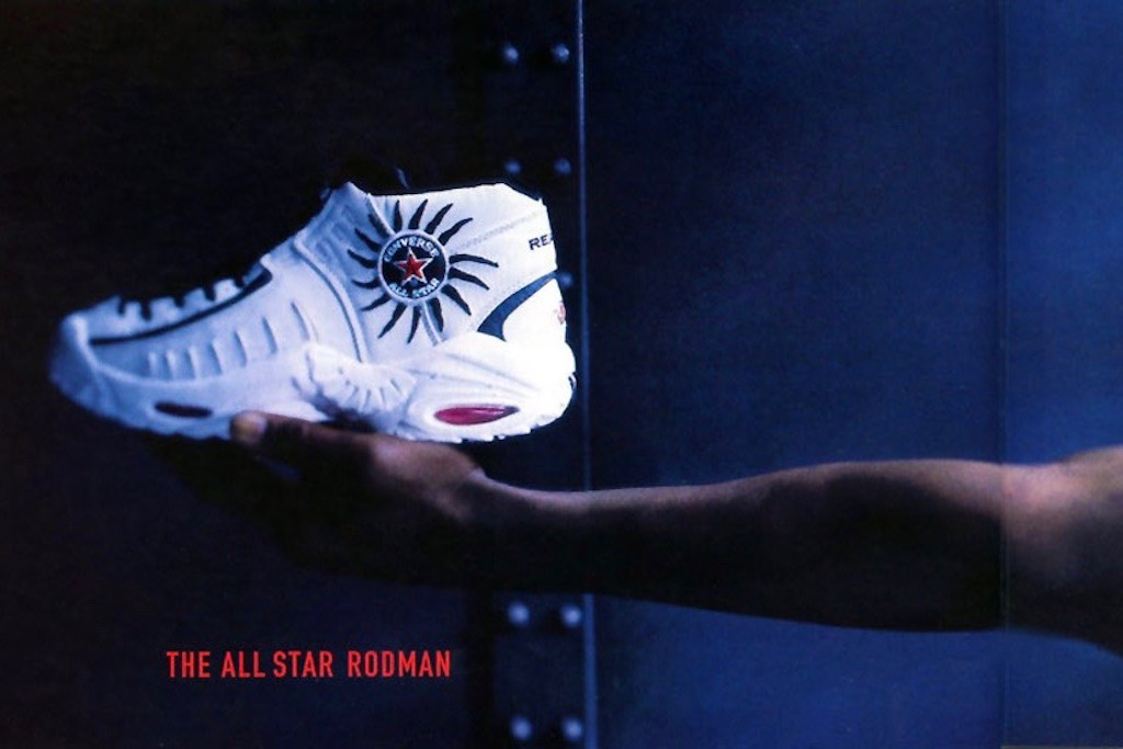 A promotional poster for the Converse AS Rodman