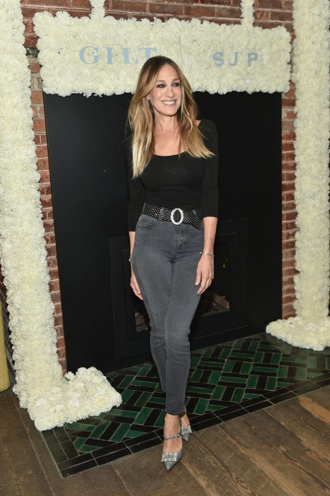 NEW YORK, NY - APRIL 23: Sarah Jessica Parker celebrates her exclusive bridal collection with Gilt at Serge Normant Salon on April 23, 2018 in New York City. (Photo by Mike Coppola/Getty Images for Gilt.com)