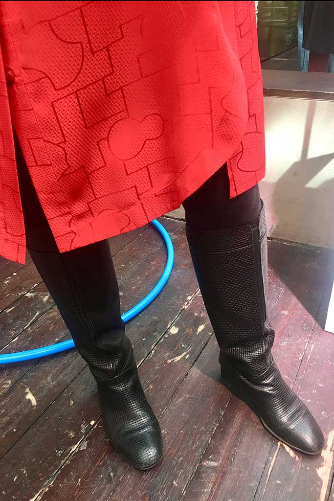 Shang Xia woven boots