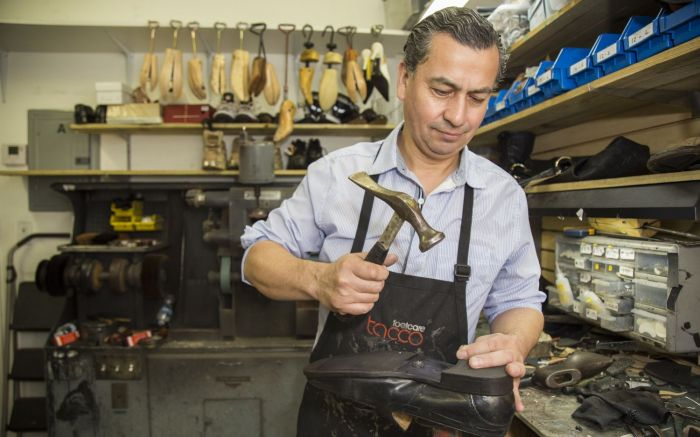 Shoe repair cobbler