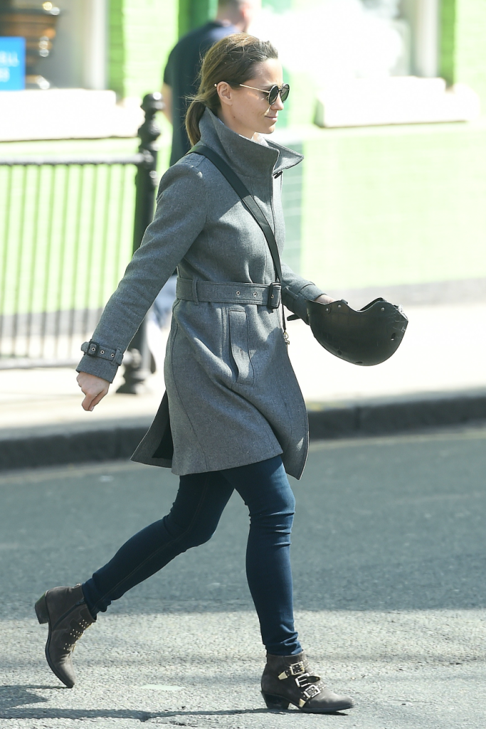 Pippa Middleton wearing Russell & Bromley boots