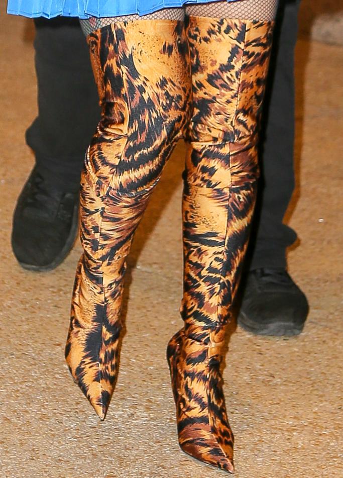Cardi B Shows Off Bold Balenciaga Thigh
