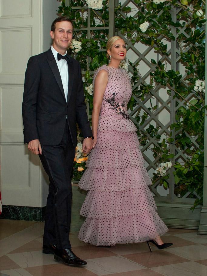 Ivanka Trump, state dinner, rodarte dress