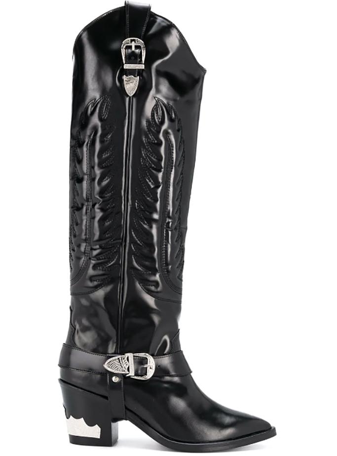 Toga Pulla knee high cowboy boots coachella 2019
