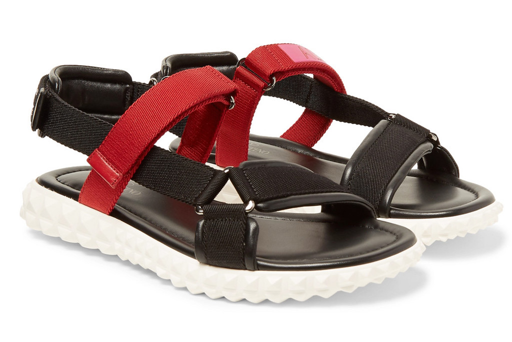 Valentino Garavani Coordinates Grosgrain And Leather Sandals