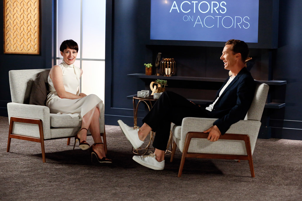 Claire Foy and Benedict Cumberbatch, variety actors on actors