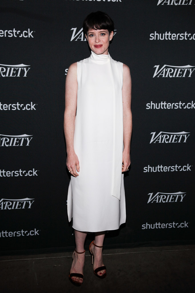 claire foy, jimmy choo kaylee, variety actors on actors
