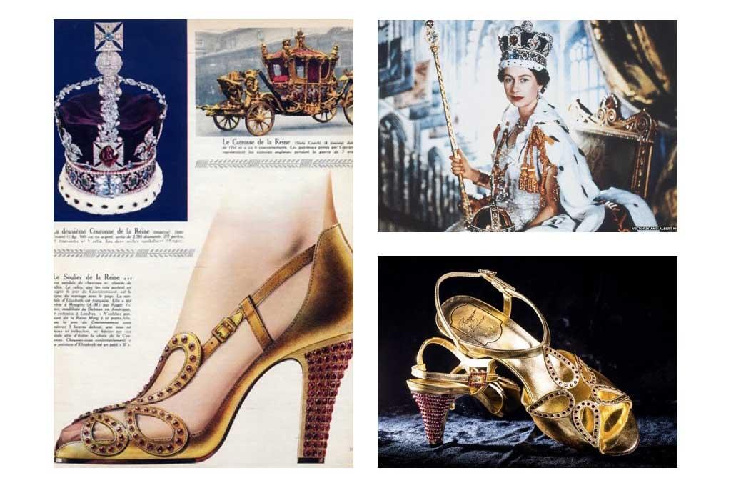 Roger Vivier Coronation shoes for Elizabeth II.