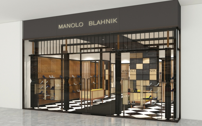 The Manolo Blahnik boutique in Singapore's Marina Bay Sands