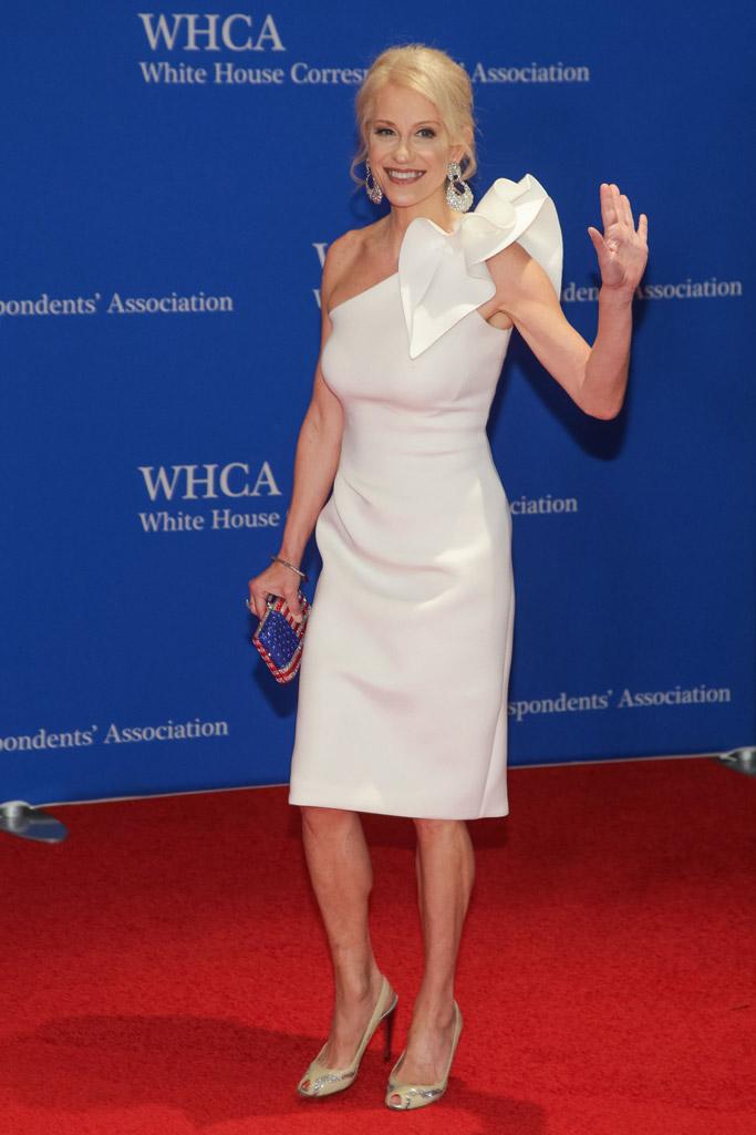 Kellyanne Conway, white house correspondents dinner 2018, red carpet