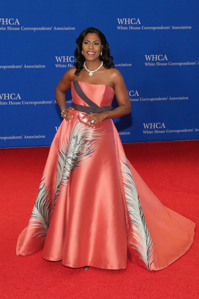 Omarosa Manigault, white house correspondents dinner 2018, red carpet