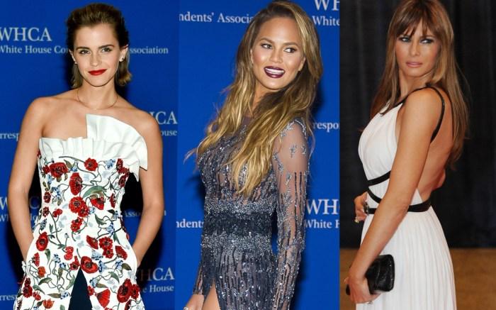 Emma Watson, Chrissy Teigen, Melania Trump, white house correspondents dinner