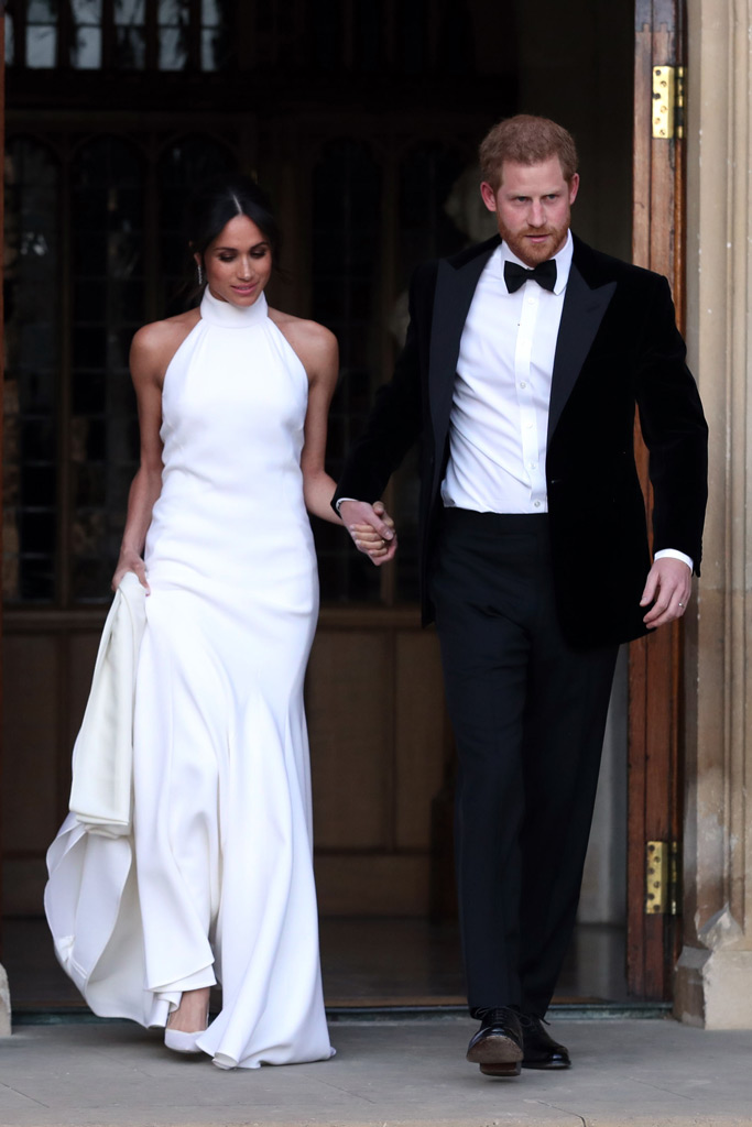 meghan markle, aquazzura heels, prince harry, wedding dress, stella mccartney