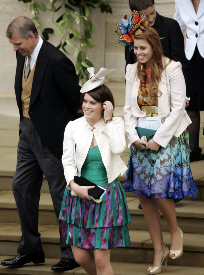 princess eugenie, princess beatrice, prince andrew