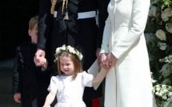 Princess Charlotte at the Royal Wedding