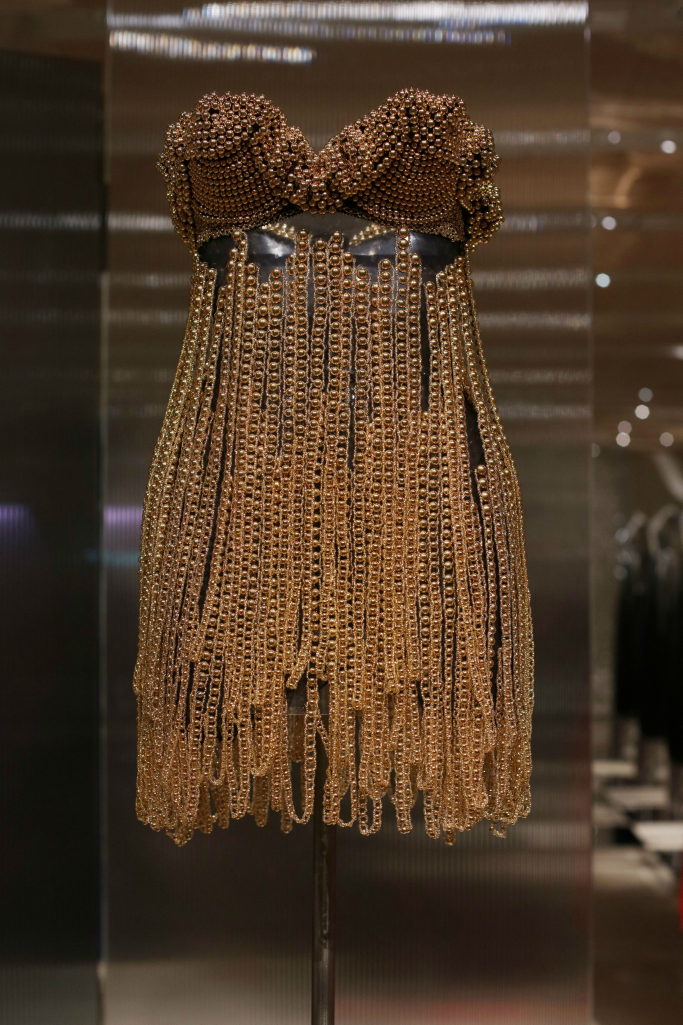Alaia chainmail dress, Azzedine Alaia: The Couturier exhibition
