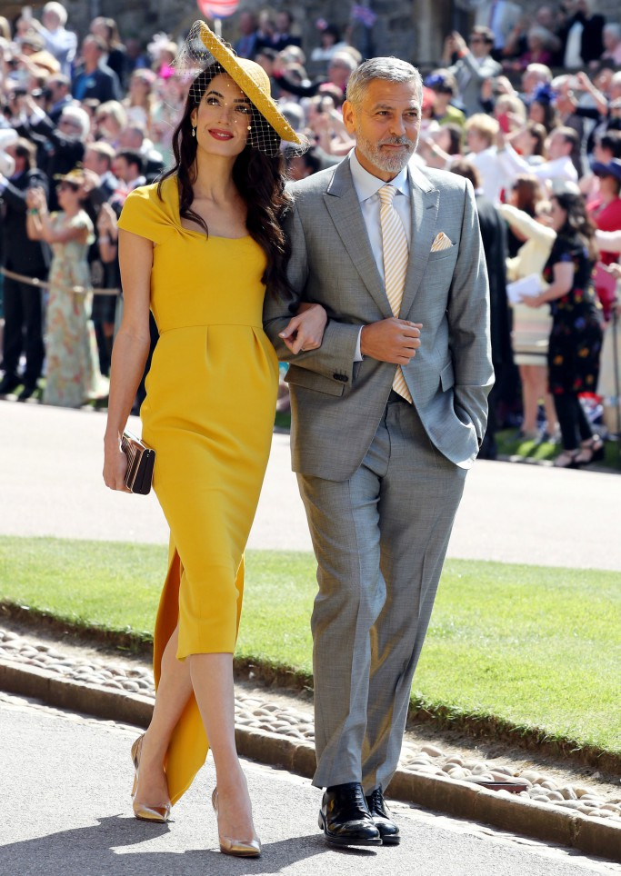 amal and george clooney, royal wedding